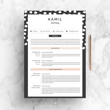 4 Page Resume CV Template Cover Letter For MS Word Etsy