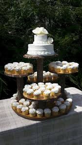 Rustic Wedding Cake Cupcake Stand Design