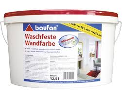 waschfeste wandfarbe baufan weiß 12 5 l