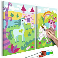 Cuadro Para Colorear Unicornios Fabulosos Deko Shop