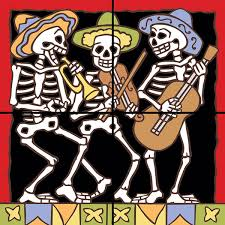 decorative tile collection day of the dead tile mural ddt201