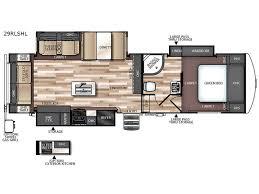 Wildwood Fifth Wheel Floor Plans Colors New Forest River Rv Wildwood Heritage Glen Hyper Lyte 29rlshl