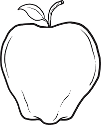 Printable Apple Coloring Page For Kids
