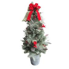 Crab Pot Christmas Trees Dealers by Potted Christmas Trees Christmas Decorations The Home Depot