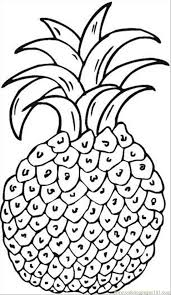 Pineapple Coloring Pages 3