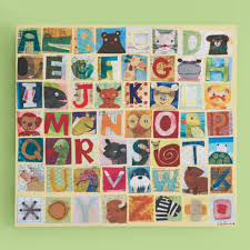 Kids Posters Prints Art Maria Carluccio Animal Alphabet Collage Wall