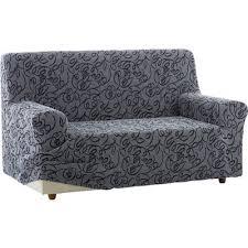 housse extensible pour canapé housse bi extensible intégrale pour canapé 3 places à accoudoirs en