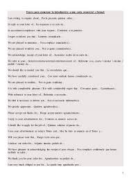 Frases Para Comenzar La Introducción A Una Carta Comercial O Formal