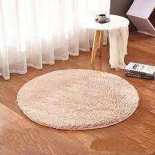 tapis rond chambre beige tapis rond tapis de chaud et confortable lavage vivant