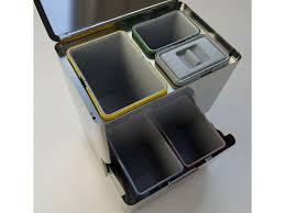 poubelle de bureau tri selectif poubelle pour tri sélectif 80 l avec 5 bacs differenziata 5 mon