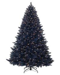 Flocking Artificial Christmas Trees by Navy Blue Artificial Christmas Tree Treetopia