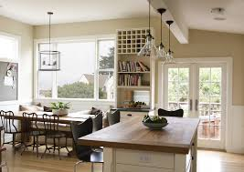 best idea of country kitchen light fixtures with wooden table and