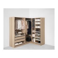 pax corner wardrobe white stained oak effect nexus vikedal