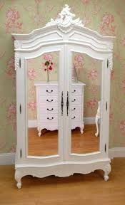 Showing Gallery Of White French Armoire Wardrobes (View 10 Of 15 ... Bedroom Antique Pine Wardrobe Vintage Corner Wardrobe White French Armoire Old Style Fabulous Painted Antique Armoire Cupboard With French And Wardrobes Abolishrmcom Beautiful Portable Provencal Carved Single Door Mirrored Bedroom Loving This Flair Display Cabinet Couture Fniture Is An Inspiration Shabby Chic Armoires