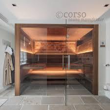 designsauna mit glasfront im bad sauna für zuhause sauna