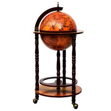 Globe Liquor Cabinet Antique by Costway 36 U0027 U0027 Wood Globe Wine Bar Stand 16th Century Italian Rack