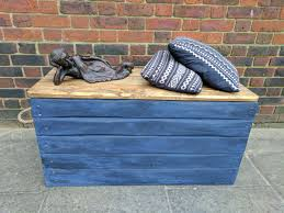 rustic storage trunk chest hope box toy box handmade from
