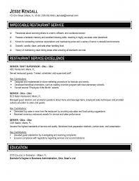 Good Waitress Resume Job Description Template For Free Restaurant Sample