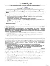 Senior Accountant Resume Sample Samples Career Help Center And