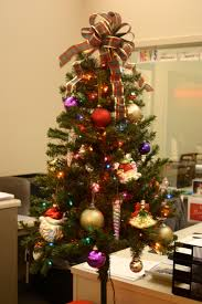 Christmas Tree With Ribbon Topper