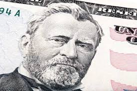 President Ulysses S Grant From 50 Dollar Bill Stock Photo Picture
