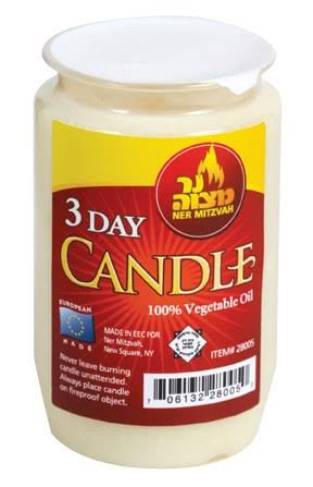 Ner Mitzvah 3 Day Candle