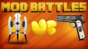 Minecraft Pumpkin Carving Mod 18 by Portal Mod Vs Gun Mod Mod Vs Mod Minecraft Mod Battles Ep 2