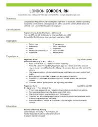 Unfor table Registered Nurse Resume Examples to Stand Out