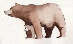 Drawn Bear Mama
