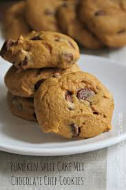 Easy Pumpkin Spice Cake Mix Chocolate Chip Cookies