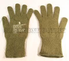 genuine u s military issue olive drab green wool m1949 glove