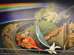 Denver Airport Murals Conspiracy Theory by Denver International Airport At The Centre Of A Thousand