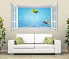 3d wandtattoo fenster fische aquarium wand aufkleber wanddurchbruch wandbild wohnzimmer 11bd473 wandtattoos und leinwandbilder günstig