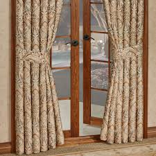 J Queen Celeste Curtains by Serenity Light Gold Ogee Medallion Window Treatment By J Queen New