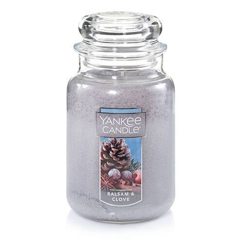 Yankee Candle Large Jar Candle, Balsam & Clove