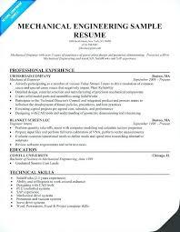 Resume Format For Mechanical Engineer Fresher