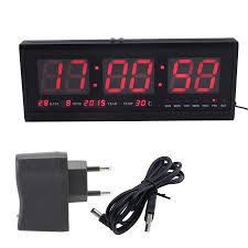 led digitale wanduhr temperatur datum elektronische uhr kalender moderne dekoration wohnzimmer uhr alarm