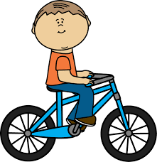 Boy Riding Bike Clipart