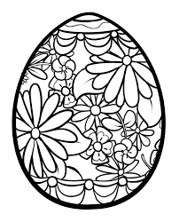 Easter Egg Coloring Pages Town View Larger