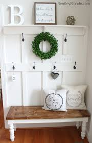 DIY Farmhouse Bench Tutorial Paint The Like This And Put It In Entry Way