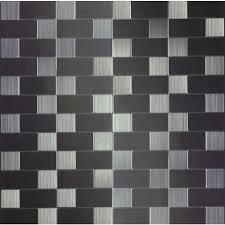 Metallic Tile Effect Wallpaper by Metal Tile Tile The Home Depot