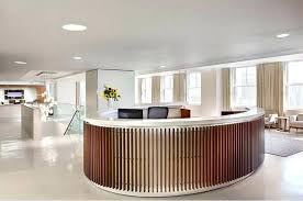 Modern Reception Desk Round Dimensions For Office Area Curved Counter Design