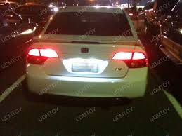 2008 honda civic si upgraded with license plate led lights