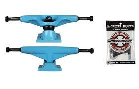 Amazon.com : Tensor Skateboard Trucks Blue 5.5 8.12
