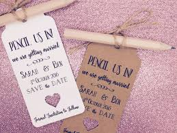 Pencil Us In Save The Date Evening Card Wedding Invitation With Envelope