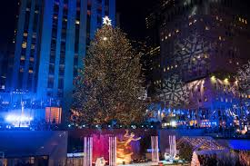 rockefeller tree lighting attracts thousands boston herald