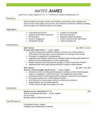 Resume For Teachers Post Teacher Resumes Best Sample Free Teaching Templates