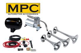 MPC 0831 Train Air Horn Kit; Three Separate Huge Trumpets, 12-Volt ... For Sale Black Truck Train Quad 4 Trumpet Air Horn Kit 150 Psi 12v Maximus Iv Kits Hornblasters On Twitter We Get Asked A Lot What Direction Do You Kleinn Pro Blaster Features Dual 12v Car 12 Volt Compressor 16ft Hose Db Hornblasters Outlaw 232 Chrome Horn Ram 1500 From Train Horns Delivered Youtube Jeep Wrangler Onboard And Horns Ford F250 F350 Super Duty Sdkit734