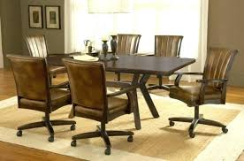 Dinette Chairs With Casters Swivel Dining Chairs With Casters Room