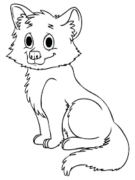 Coloring Pages Cute Baby Wolf Arctic Page Animal Jam To Print